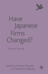 Have Japanese Firms Changed? - The Lost Decade