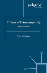 Critique of Entrepreneurship - People and Policy