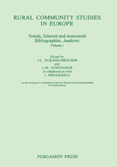 Rural Community Studies in Europe - Trends, Sel...