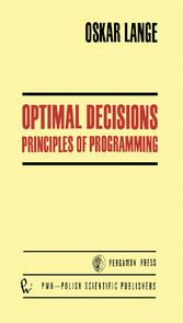 Optimal Decisions - Principles of Programming