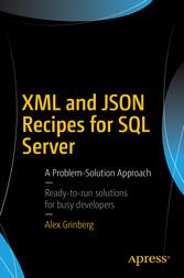 XML and JSON Recipes for SQL Server - A Problem...