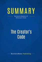 Summary: The Creators Code - Review and Analysi...
