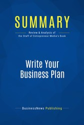 Summary: Write Your Business Plan - Review and ...