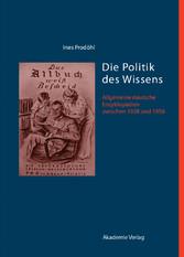 Die Politik des Wissens - Allgemeine deutsche E...
