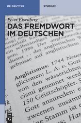 Inhaltsverzeichnis Von Das Fremdwort Im Deutschen Fremdwort Im