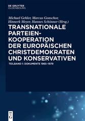 Transnationale Parteienkooperation der europäis...