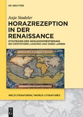 Horazrezeption in der Renaissance - Strategien ...