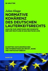 Normative Kohärenz des deutschen Lauterkeitsrec...