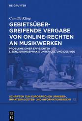Gebietsübergreifende Vergabe von Online-Rechten...