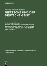 Ausbreitung und Wirkung des Nietzscheschen Werk...