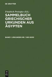 Urkunden Nr. 1 bis 6000