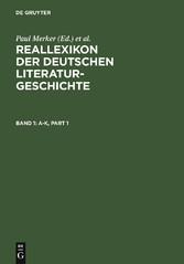 Reallexikon der deutschen Literaturgeschichte -...