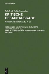 Schriften aus der Berliner Zeit 1800-1802