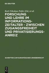 Forschung und Lehre im Informationszeitalter - ...