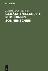 Gedächtnisschrift für Jürgen Sonnenschein - 22....