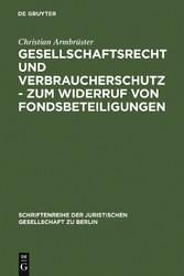 Gesellschaftsrecht und Verbraucherschutz - Zum ...
