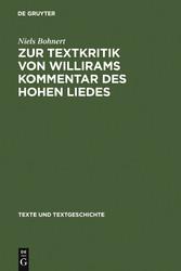 Zur Textkritik von Willirams Kommentar des Hohe...