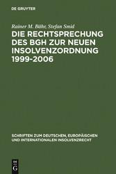 Die Rechtsprechung des BGH zur neuen Insolvenzo...