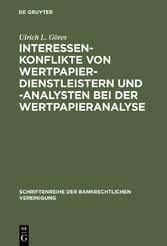 Interessenkonflikte von Wertpapierdienstleister...