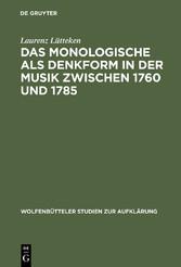 Das Monologische als Denkform in der Musik zwis...