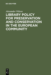Library Policy for Preservation and Conservatio...