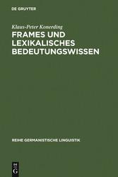 Frames und lexikalisches Bedeutungswissen - Unt...