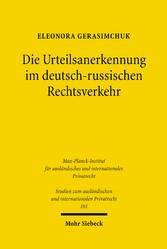 Die Urteilsanerkennung im deutsch-russischen Re...