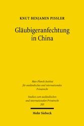 Gläubigeranfechtung in China - Eine rechtshisto...
