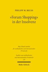 Forum Shopping in der Insolvenz - Missbräuchlic...