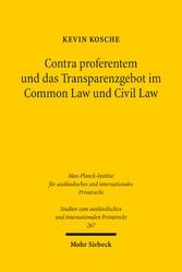 Contra proferentem und das Transparenzgebot im ...