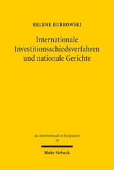 Internationale Investitionsschiedsverfahren und...