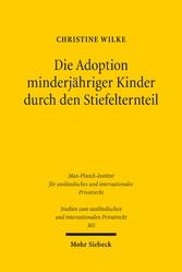 Die Adoption minderjähriger Kinder durch den St...