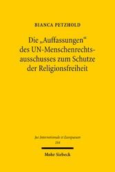 Die Auffassungen des UN-Menschenrechtsausschuss...