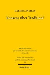 Konsens über Tradition? - Eine Studie zur Eigen...