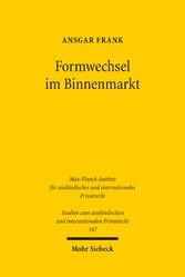 Formwechsel im Binnenmarkt - Die grenzüberschre...