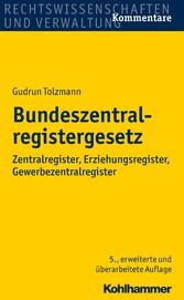 Bundeszentralregistergesetz - Zentralregister, ...