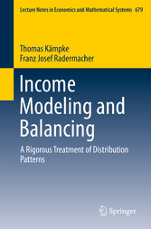 Income Modeling and Balancing - A Rigorous Trea...