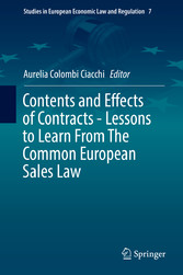 Contents and Effects of Contracts-Lessons to Le...