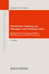Persönliche Haftung von Managern und Aufsichtsr...