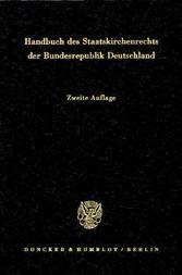Handbuch des Staatskirchenrechts der Bundesrepu...
