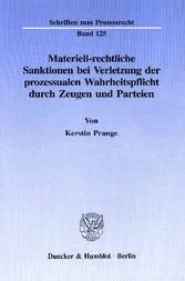 Materiell-rechtliche Sanktionen bei Verletzung ...