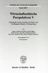 Wirtschaftsethische Perspektiven V. - Methodisc...