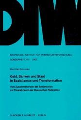 Geld, Banken und Staat in Sozialismus und Trans...