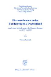 Finanzreformen in der Bundesrepublik Deutschlan...
