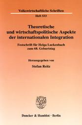 Theoretische und wirtschaftspolitische Aspekte ...