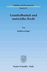 Unmittelbarkeit und materielles Recht.