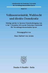 Volkssouveränität, Wahlrecht und direkte Demokr...
