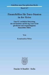 Finanzhilfen für Euro-Staaten in der Krise. - E...
