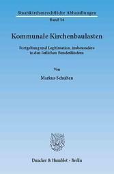 Kommunale Kirchenbaulasten. - Fortgeltung und L...
