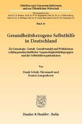 Gesundheitsbezogene Selbsthilfe in Deutschland....